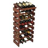 32-Bottles Wine Rack with Display Top