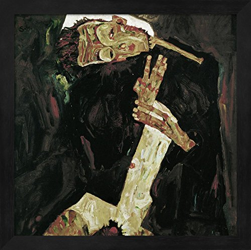 Great Art Now The Poet (Self-Portrait), 1911 by Egon Schiele Fine Art Print with Wood Box Frame and Glass Cover, 13 x 13 (Egon Schiele Self Portrait)