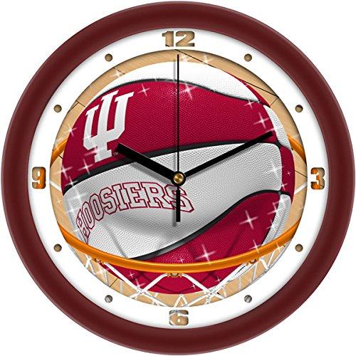 SunTime NCAA Indiana Hoosiers Slam Dunk Clockwall Clock