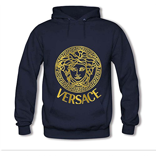 (Kaodu Womens Hoodies Versace Navy Blue Size S )