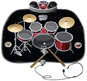 childrens kids drum kit set playmat play mat includes headphones with mic drum. Black Bedroom Furniture Sets. Home Design Ideas