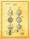 This is a reproduction of the original Patent for a Joke Buzzer Patent Print.It was invented by Adams Soren S and filed on November 12, 1931. It was issued on February 16, 1932 by the United States Patent and Trademark Office.