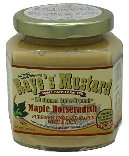 Raye's Maple Horseradish All Natural Stone Ground Mustard made in New England