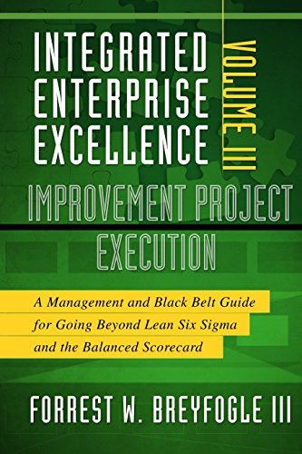 Pdf Science Integrated Enterprise Excellence, Vol. III Improvement Project Execution: A Management and Black Belt Guide for Going Beyond Lean Six Sigma and the Balanced Scorecard