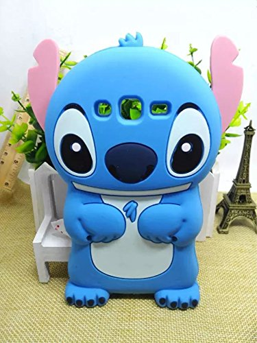 Galaxy S3 Case Cover ,Stingna 3D Cute Blue Animal Soft Silicone Case Cover For Samsung Galaxy S3 I9300 + Free Gift (S3) (Samsung Galaxy S3 Case Adorable)