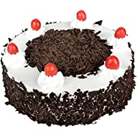 Sattva Flower Boutique Contains A Black Forest Cake Weighs 1/2 Kg (Cakes And Fresh Flowers - Within 24 Hrs Delivery Available Only In Chennai)
