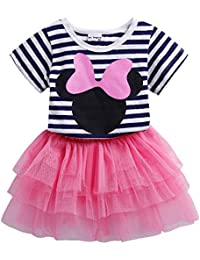 1bdb82f848b4 Toddler Girls' Cartoon Cute Set T-Shirt and Tutu Skirt Outfit