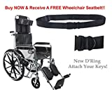 Karman Healthcare KN-880-E Standard Deluxe Reclining Wheelchair with Removable Armrests, Chrome