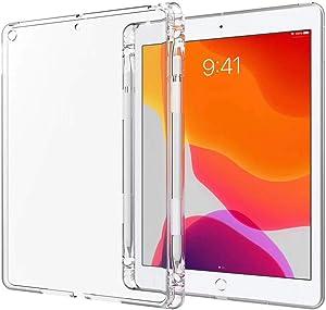 Arlgseln TPU Case for New iPad Mini, Clear Soft Tablet Case TPU Transparent Shockproof Protective Cover+Apple Pencil Holder Case for iPad Mini 5 7.9-inch A2126/A2125/A2133 2019/iPad Mini 1/2/3/4