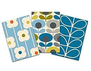 Orla Kiely Retro Flowers Notebook Trio