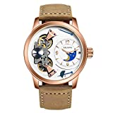 AILANG Genuine Leather Luxury Men's Tourbillon Calendar Mechanical Wrist watch AL-5811