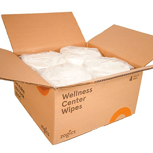 Zogics Wellness Center Cleaning Wipes, Heavy Duty Gym Wipes (1,150 Wipes/Roll, 4 Rolls/Case) by Zogics
