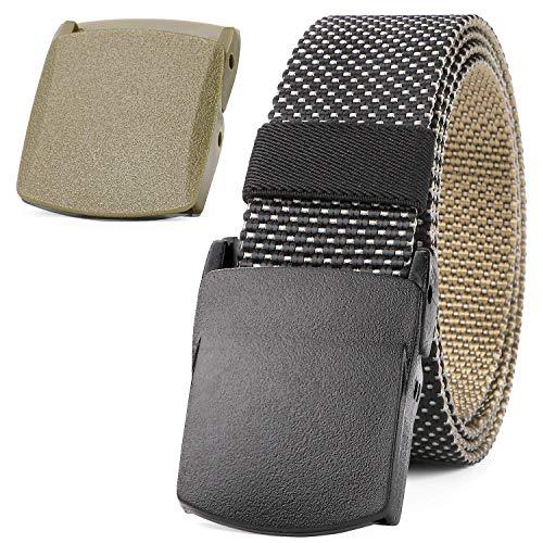 JASGOOD Nylon Belt Outdoor Belt Unisex Reversible Two Side Belt Tactical Gun Belt Duty Belt with YKK Plastic Buckle Up to 48