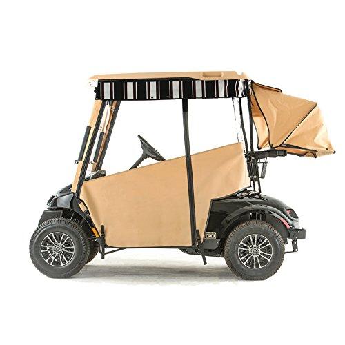 (EZGO TXT48 Golf Cart PRO-TOURING Sunbrella Track Enclosure - Linen-HR)