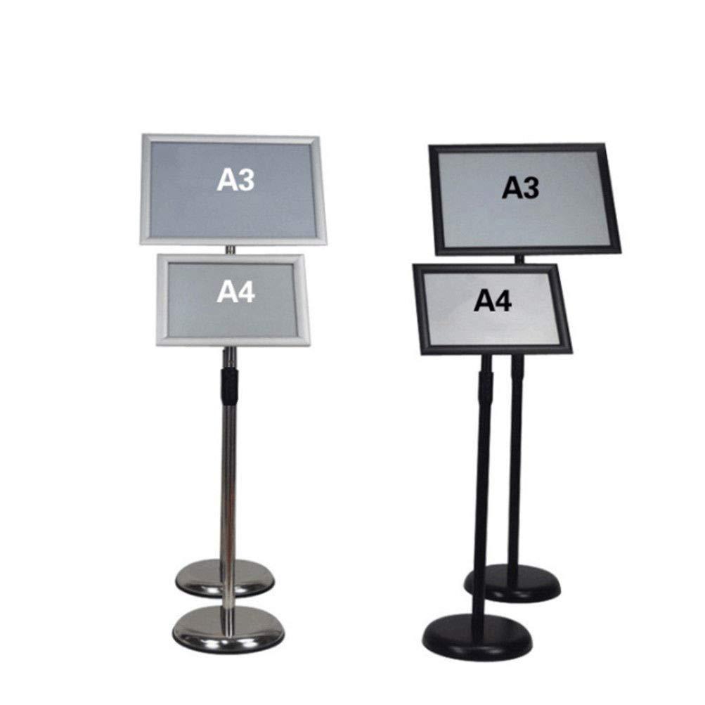 Stand-Posterhalter Verstellbarer Posterst/änder Notizzettel St/änder f/ür Hochzeit//Show//Display//Werbung A3 Schwarz