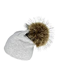 Baby Pom Beanie, Super Large Bobble Hat, Kids Faux Fur Pom Beanie, Toddlers Hat