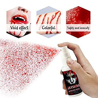 Smartcoco Realistic Fake Blood Spray Scary Halloween Make Up Splatter Blood Party Favors Decoration Accessories (30ML/Bottle): Toys & Games