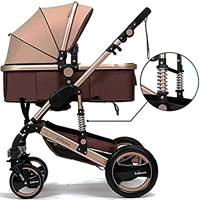 Belecoo™ Luxury Newborn Baby Foldable Anti-shock High View Carriage Infant Stroller Pushchair Pram by Belecoo that we recomend individually.