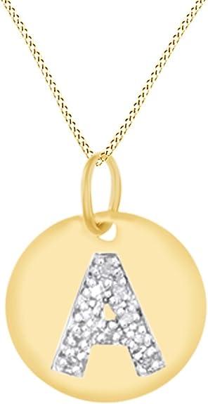 Nuevo Disco Amarillo y Plata Colgante Collar de joyería de moda