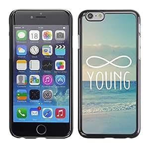 FlareStar Colour Printing Infinity Mathematics Young Forever cáscara Funda Case Caso de plástico para Apple (5.5 inches!!!) iPhone 6 Plus