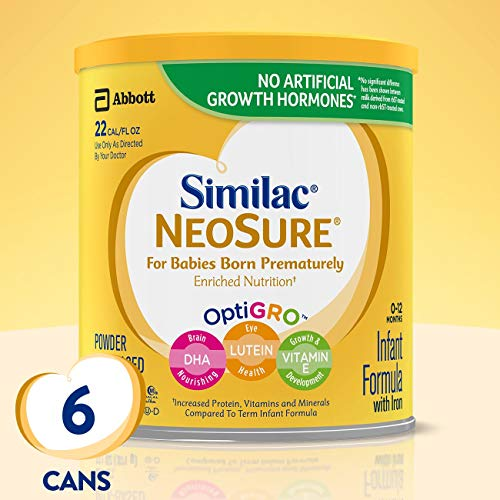 Similac NeoSure Infant Formula with Iron, For Babies Born Prematurely, Powder, 13.1 ounces (Pack of 6) (Best Baby Formula For Gassy Baby)