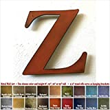 Cheap Metal Letter Z – 8″, 12″, 16″ or 22″ inch tall – Handmade metal wall art – Choose your Patina Color, Size and Letter or Number