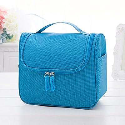 LULANForfait lavage hommes transportant des fournitures de voyage housse de voyage grand imperméable sac cosmétique femme ,19*23*10cm, bleu