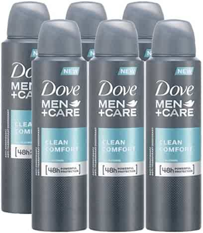Dove Men + Care Clean Comfort Spray, International Version, 150ML (6 Pack)