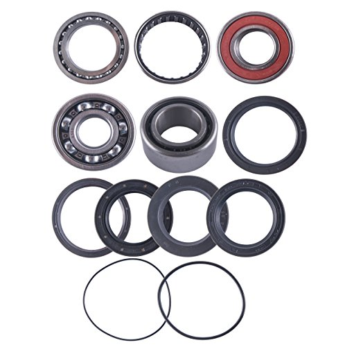 (East Lake Axle rear differential bearing & seal kit compatible with Yamaha 250 Timberwolf 1992 1993 1994-2000)