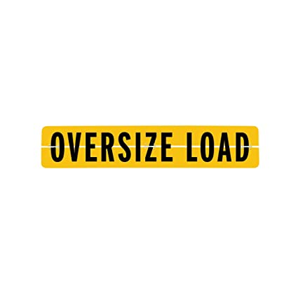 Wide Load Sign >> Amazon Com Vulcan Brands Hinged Aluminum Oversize Load Sign 12 X