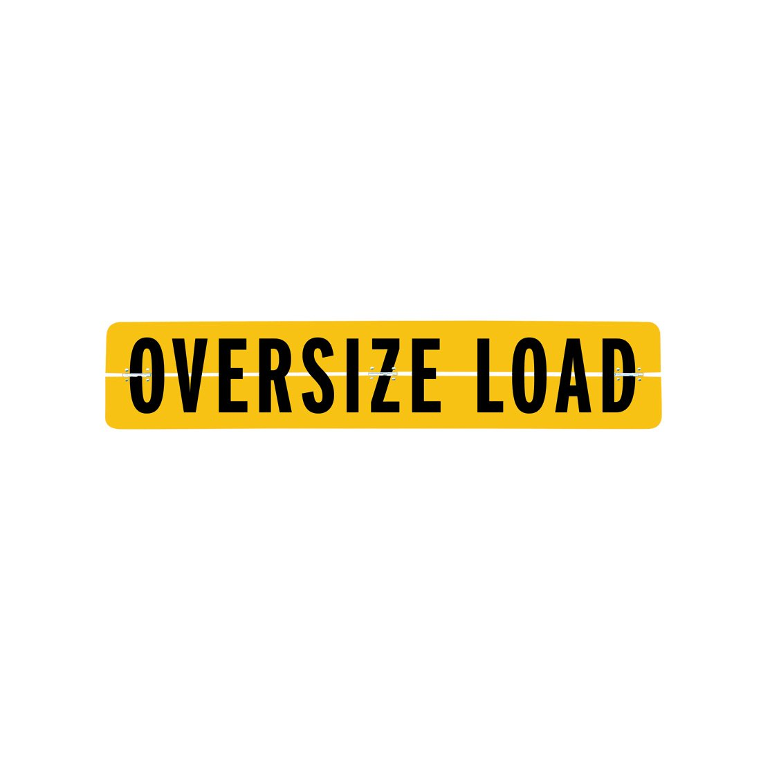 Vulcan Brands Hinged Aluminum Oversize Load Sign (12'' x 60'' - for Escort Vehicles)
