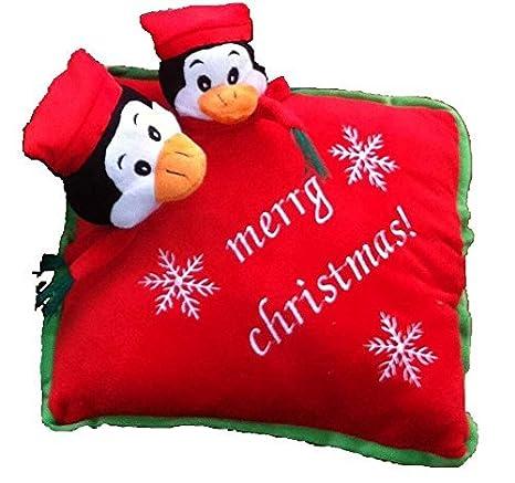 Relleno de cojín de Navidad de pingüino x-de regalo cojín de ...