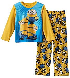 Minions Boys Fleece Pajama Set Sizes 4-10