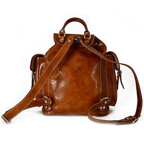 2d8f136061f69 Echtes Leder Herren Rucksack Farbe Cognac - Italienische Lederwaren -  Rucksack ...