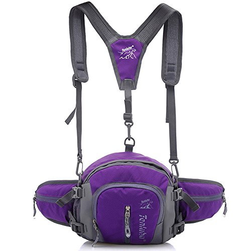 Crossbody Bag Outdoor Waist Backpack Multifunction Shoulder Catkit Waterproof 1 Handbag 4 Purple Sport Travel in XxqPwcA8F