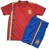 子供用サッカーユニフォーム(シャツパンツセット) 2018モデル スペイン代表 ホーム 名前背番号なし レプリカサッカーユニフォーム 子供用