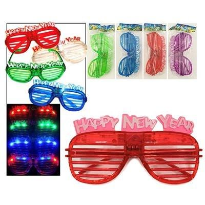 Light Up New Years Eve Party Shutter Glasses Glowing LED Shades Pack of - Shutter Glowing Shades