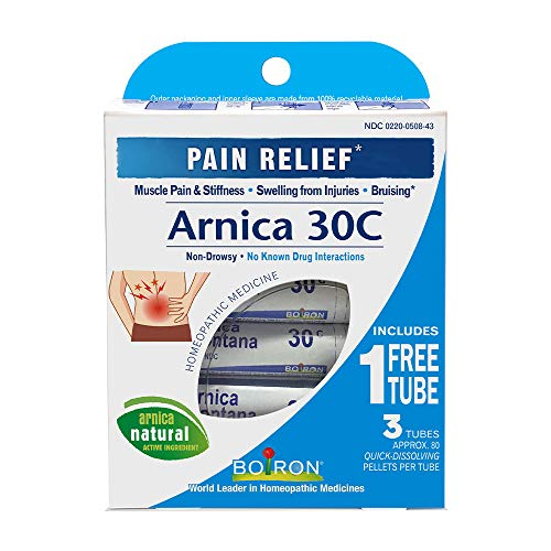 Boiron Arnica Montana 30C 3 Tubes (80 Pellets per Tube) Homeopathic Medicine for Pain Relief (Best Otc Pain Reliever For Toothache)