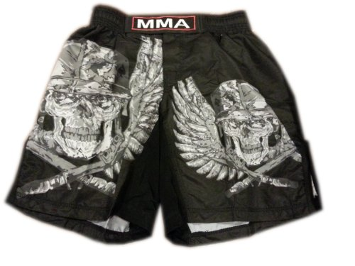 Woldorf USA MMA Board Shorts in polyester Army Skull sublimation Size M ()