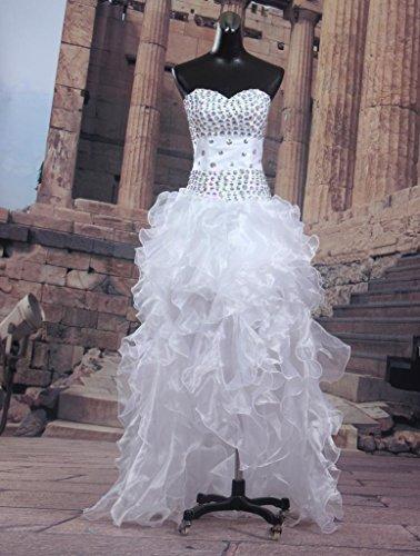 Kleid Albrose Damen Weiß A Linie 00F7tq
