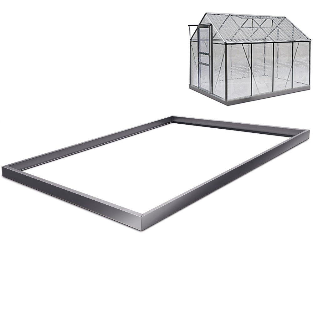 Deuba Foundation Base Greenhouse Polytunnel - Galvanized 250 x 190 Centimeter Base Fixation Floor Anchor Stable Sturdy Steel Frame