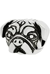 Zable Sterling Silver Pug Dog Breed Bead