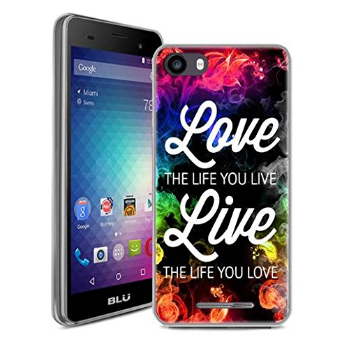 BLU Advance 5.0 HD Case, SuperbBeast Ultra Thin Slim Crystal Clear Soft Silicone TPU Rubber Protective Cover Case Skin for BLU Advance 5.0 HD / Dash X2 Smartphone (Live the Life You Love)