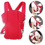 Baby Carrier Sling for Newborn - Baby Wrap Carriers Front and Back - Breathable Adjustable Safe Baby Carrier Sling Comfortable Wrap Bag for All Season Newborn, Infant & Toddler, Handsfree(Red)