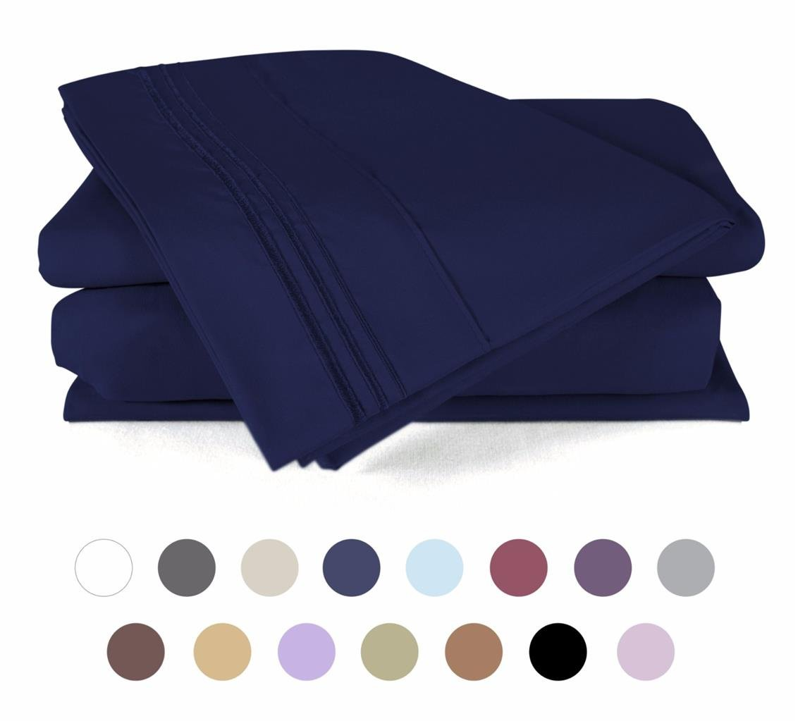 Bed Sheet Set - HOTEL LUXURY 1800 Series Quality Bedding Set King - Royal Blue