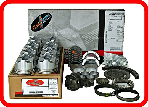 Engine Rebuild Overhaul Kit FITS: 1967-1985 Chevrolet SBC GM 350 5.7L OHV V8 w/Flat-Top Pistons