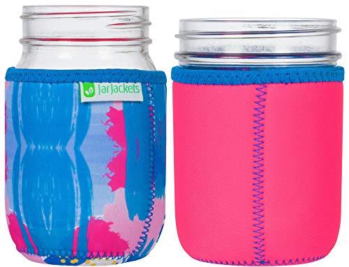 JarJackets Neoprene Mason Jar Protector Sleeve - Fits 16oz (1 pint) Jars (1, Hot ()