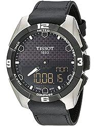 Tissot Mens T091.420.46.051.00 T Touch Expert Black Dial Black Leather Strap Multifunction Swiss Quartz Watch