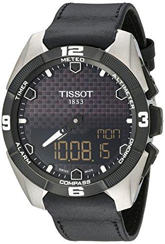 Tissot Men's T091.420.46.051.00 'T Touch Expert' Black Dial Black Leather Strap Multifunction Swiss Quartz Watch