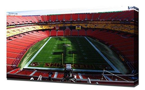 Lilarama USA Washington Redskins Fedex Field Stadium - Canvas Art Print - Wall Art - Canvas Wrap (Field Washington Usa Framed)